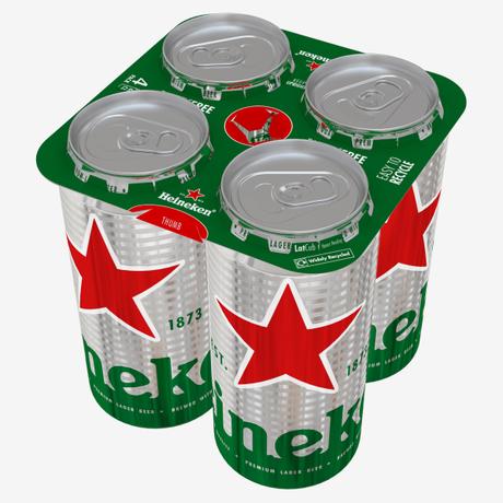 Heineken va supprimer le plastique de ses packs de bière