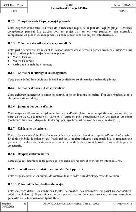 Les contraintes d appel d offre - PDF