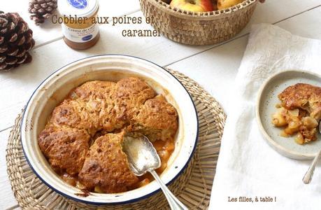 Cobbler aux poires et caramel