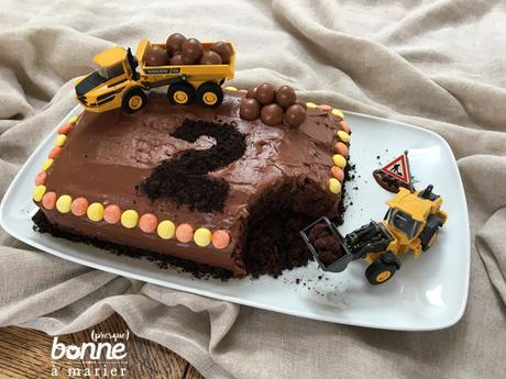 Construction cake au chocolat {gâteau chantier}