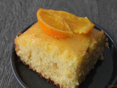 Gâteau moelleux au sirop d'orange