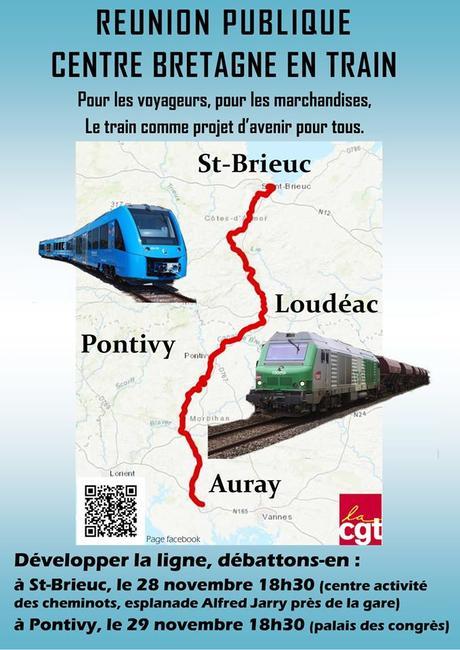 Voie Ferrée : la ligne de train St  Brieuc – Auray va-t-elle renaître ?