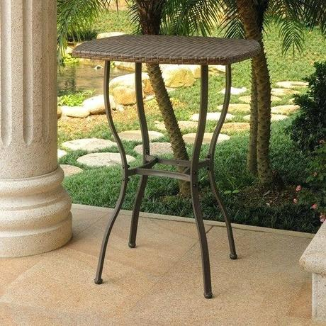 bar height outdoor tables international caravan resin wicker bar height patio bistro table outdoor bar height table and chairs canada