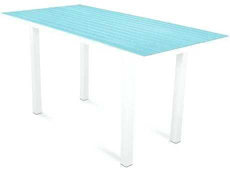 bar height outdoor tables euro recycled plastic x rectangular counter height table bar height outdoor tables and chairs