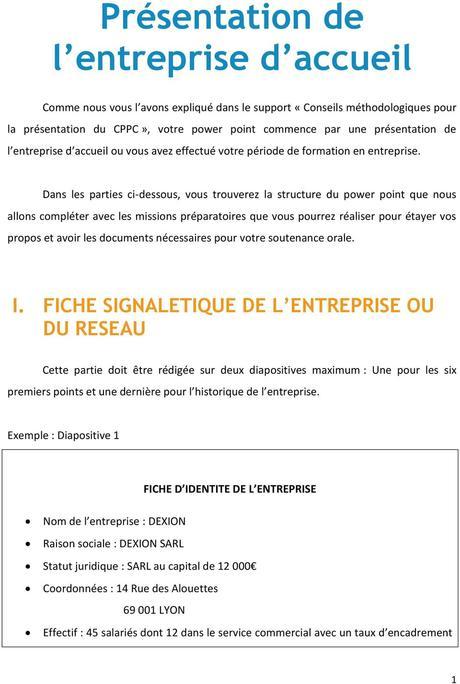 Présentation de l entreprise d accueil - PDF