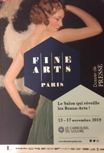 SALON  « FINE ARTS » Paris au Carrousel du Louvre 13/17 Novembre 2019