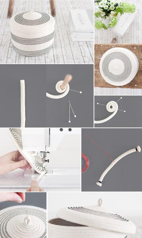 diy slow living panier corde facile tutoriel - blog déco - clem around the corner