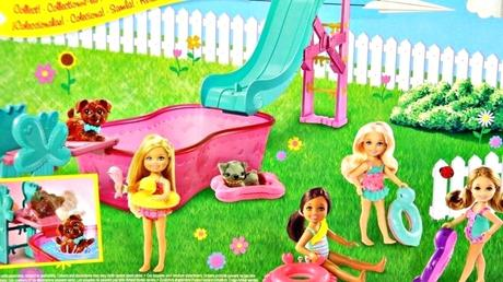 barbie swimming pup pool barbie puppy chase swimming pool