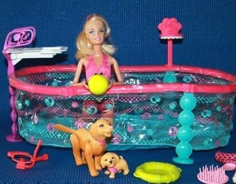 barbie swimming pup pool barbie swimmin pup pool and doll