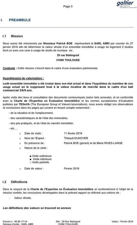 RAPPORT D'EXPERTISE EN VALEUR VENALE - PDF