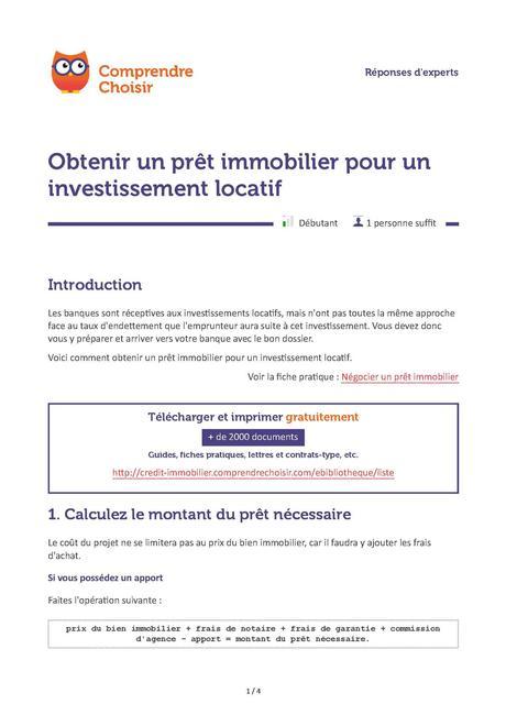 attestation de valeur locative - Modele et exemple de lettre