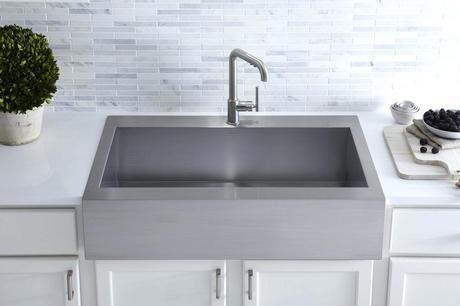 kohler apron front sink kohler whitehaven self trimming apron front sink