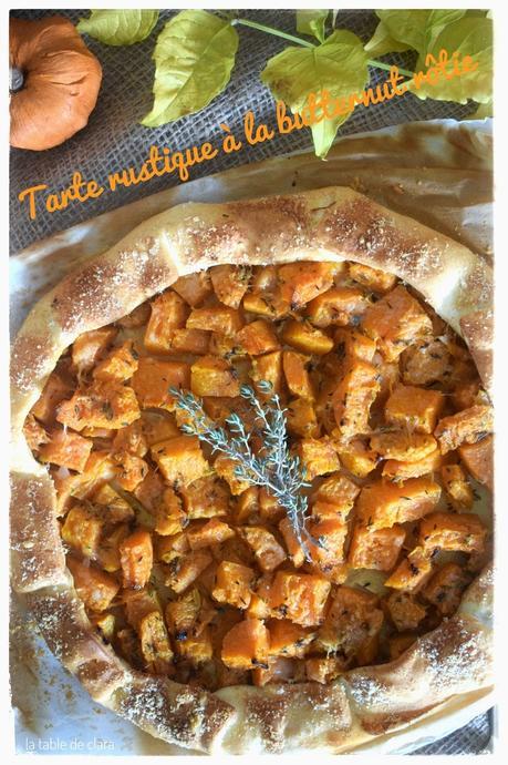 Tarte rustique à la butternut rôtie