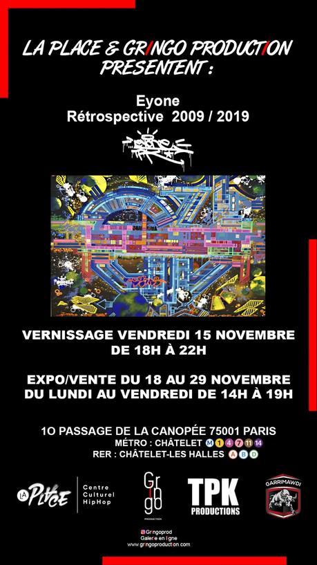 Vernissage de la « Rétrospective 2009 – 2019 » de l'artiste EYONE