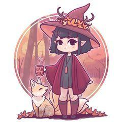 🍂 Bruxinha De Outono 🍂 as part of my seasonal witch series :3 Again any name suggestions are welcome! I love hearing all your ideas! 😊💕💕 I was thinking of maybe doing a zodiac witch series 🤔 I really enjoyed this series :3 • #witch #witchcraft #witchesofinstagram #autumn #fall #fall🍁 #autumn🍁 #cutewitch #cute #kawaii #chibi #chibiart #instaart #instadaily #instaartist #illustrator #illustration #illustrationoftheday #characterdesign #digitalart #digitalpainting