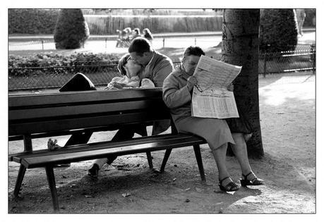 Sabine Weiss, Paris, Palais Royal 1954.
