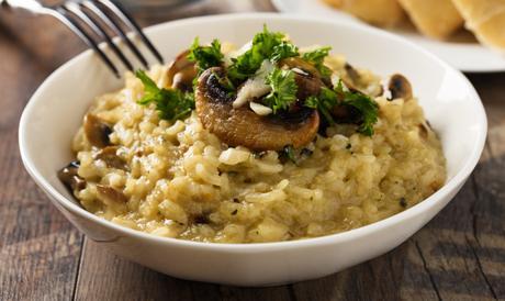 Risotto champignon frais et courgette