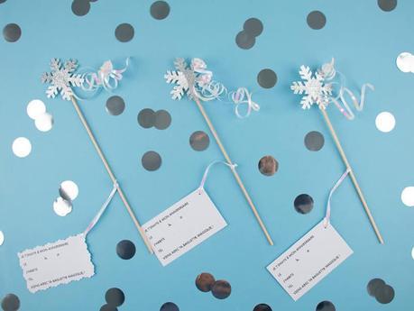Invitations reine des neiges DIY gratuit