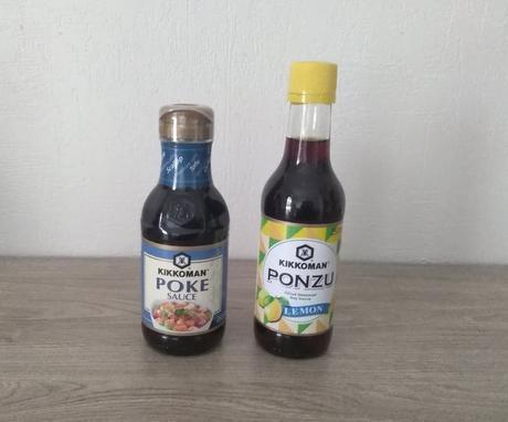 Sauce Poke et sauce soja citronnée (KIKKOMAN)