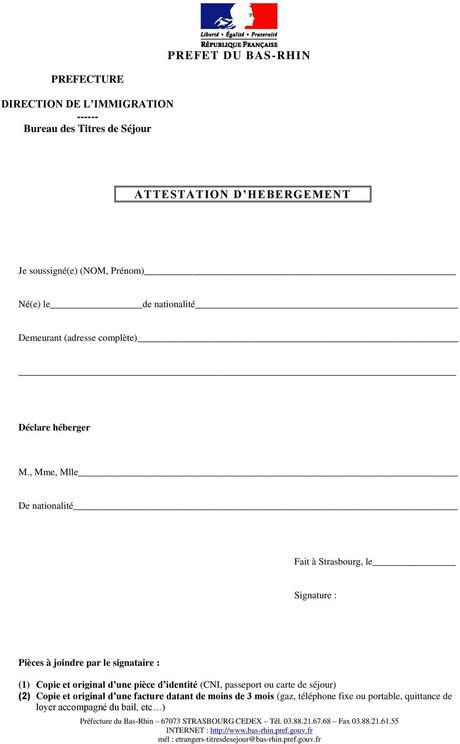 attestation de séjour - Paperblog