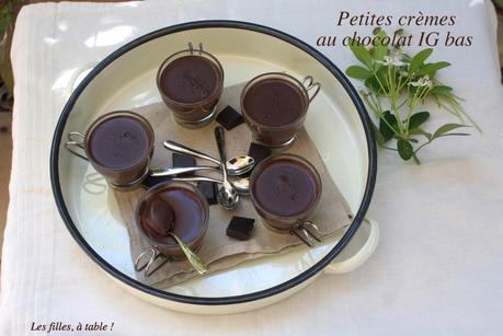 Crèmes chocolat amande, IG bas