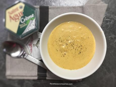 Mouliné pommes de terre carottes crème saint Agur