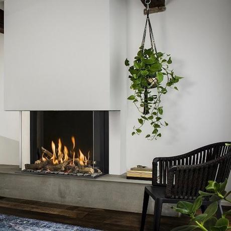 espace tendance design cheminée gaz plante - clematc