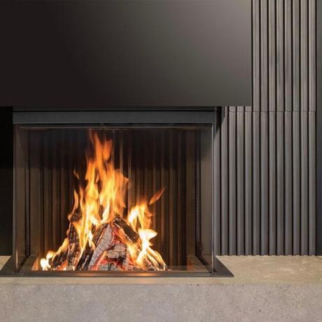 feu de cheminée bûche flamme salon chauffage - blog déco - clematc