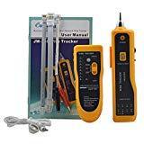 Formulauff JW-360 Testeur de câble réseau LAN Traqueur de Fil téléphonique Diagnostic de kit d'outils de tonalité Ligne RJ45 Test de séquence de Recherche - Jaune