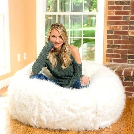white fur bean bag white fur bean bag chair cover