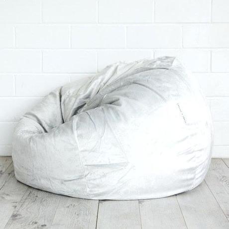 white fur bean bag cocoon faux fur bean bag chair white