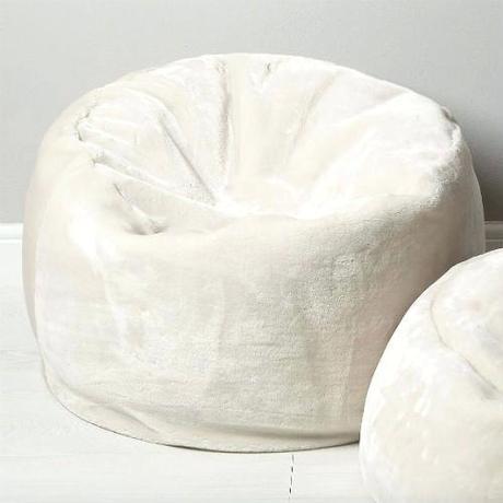 white fur bean bag white furry bean bag cover