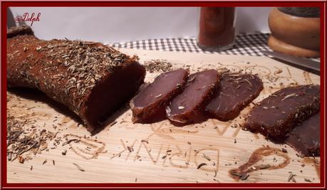 Filet mignon séché aux herbes de Provence et paprika