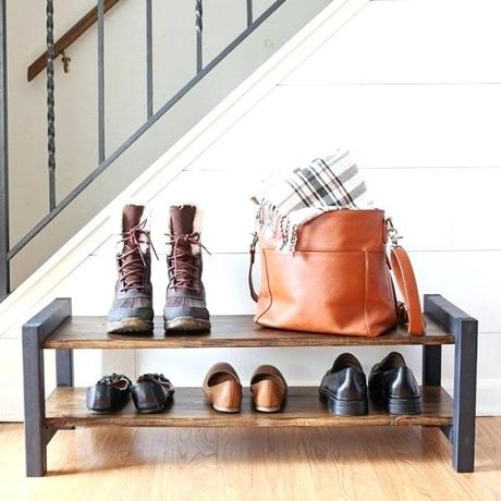 diy shoe rack bench build wooden shoe rack bench