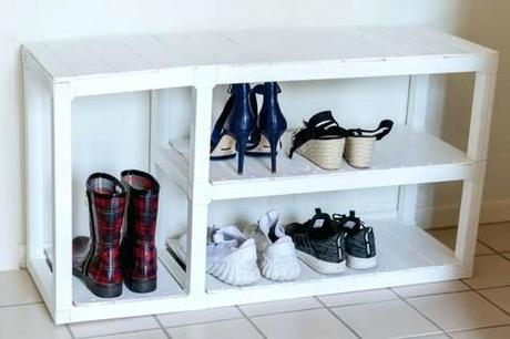 diy shoe rack bench diy pallet shoe rack bench