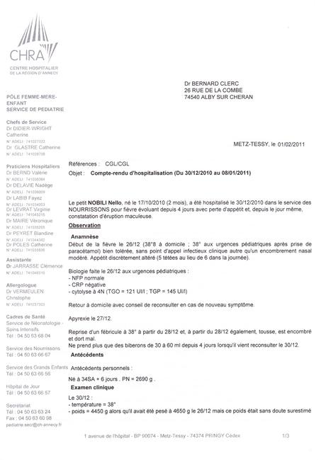 Consulter exemple compte rendu medical