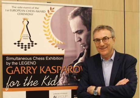 A la rencontre de Garry Kasparov à Monaco avec Philippe Dornbusch - Photo © Echecs & Stratégie