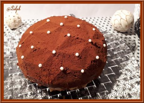 Gâteau Diamant chocolat praliné
