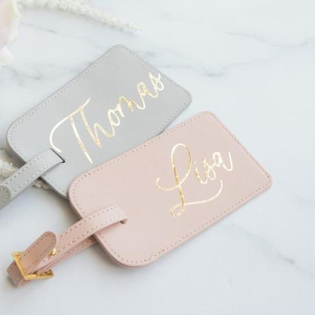 idée cadeau mariage souvenir étiquette voyage bagage cuir grave prénom