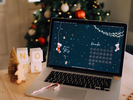 fond d'écran Noël téléphone ordinateur quiaimeastuces