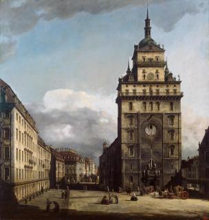 Bernardo_Bellotto_-_The_Kreuzkirche_in_Dresden_-_1751