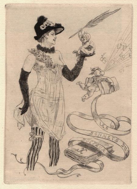 Gravure pour Les Sonnets du Docteur, de Georges Camuset, Rops, 1884