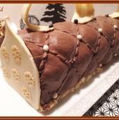 Bûche Chocolat et Insert à la Poire - Oh, la gourmande..