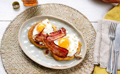 Pancakes à la patate douce, bacon et sirop d'érable – Recettes autour d'un ingrédient #56