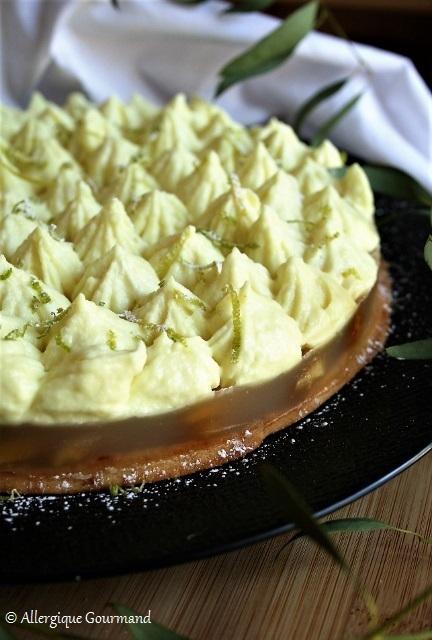 Entremet pommes caramélisées et mousse de citron { sans gluten, sans lait, sans œufs }