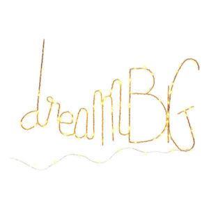 ZOE RUMEAU Mot lumineux géant «Dream Big» – 70 cm