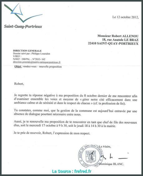 Lettre De Demission: Lettre De Demission D'un Adjoint Au Maire Gratuit