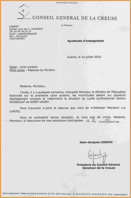 lettre de demission d'un adjoint au maire gratuit - Paperblog