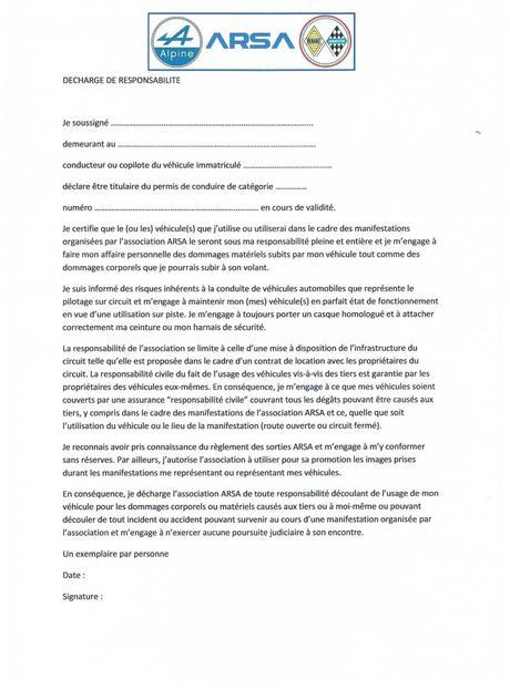 DOC] Decharge De Responsabilites Voiture