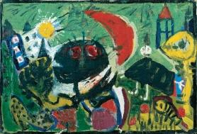 1949, Asger Jorn, Corneille, Constant, Erik Nyholm et Karel Appel : Sans titre